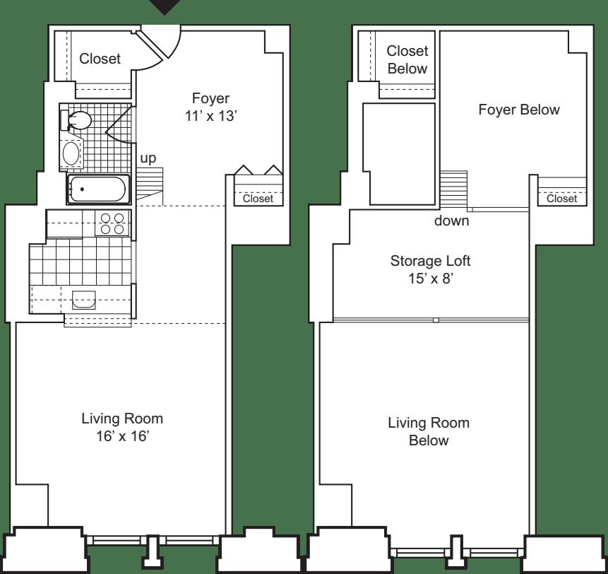 1 Bedroom E with Loft