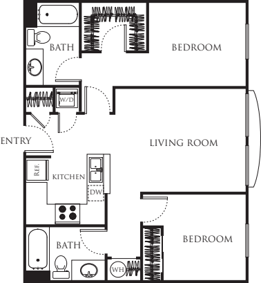 Two bedroom Two Bath 828