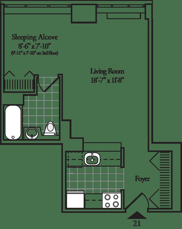 Residence 21 or 22