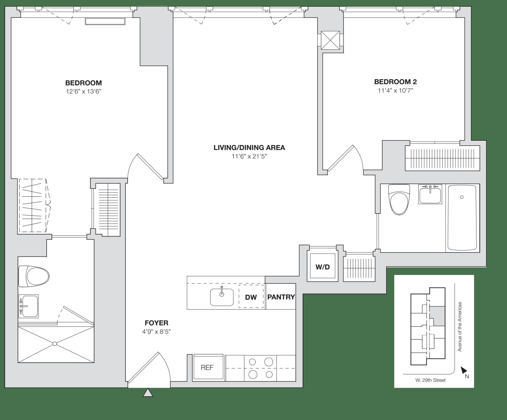 2 Bedroom E