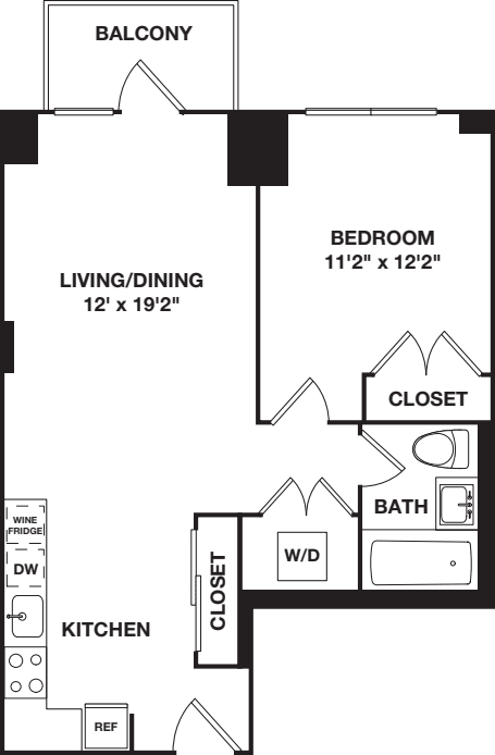 One Bedroom B 4-8