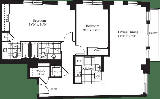 2 Bedrooms Q