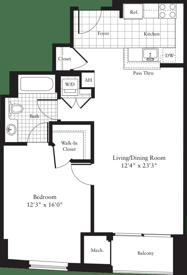 1 Bedroom K