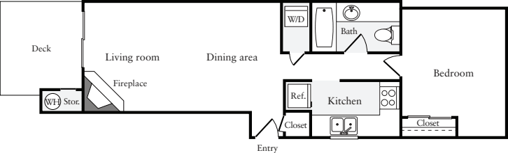 1 Bedroom C (HS)