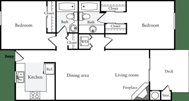 2 Bedrooms A (HS)