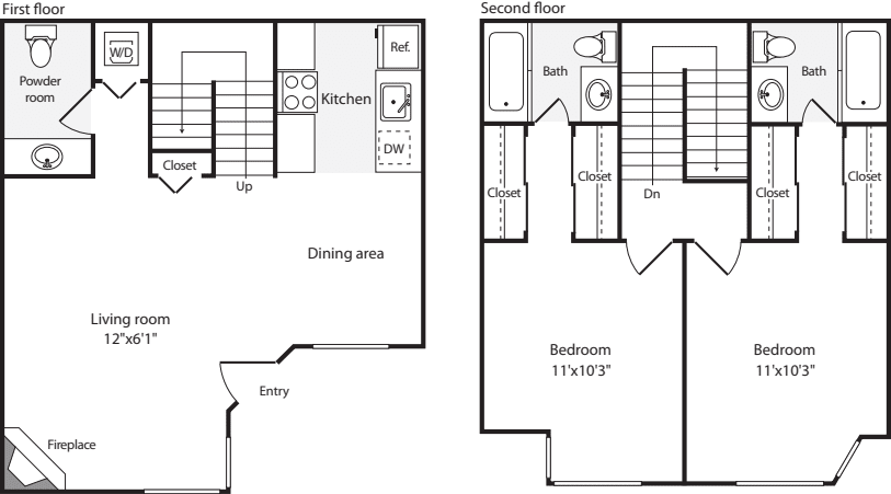 2 Bedrooms O