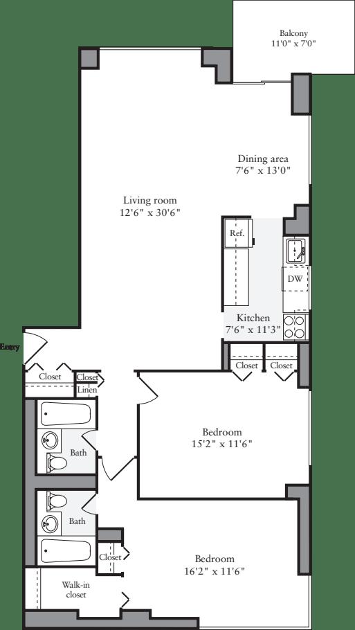 2 Bedrooms H