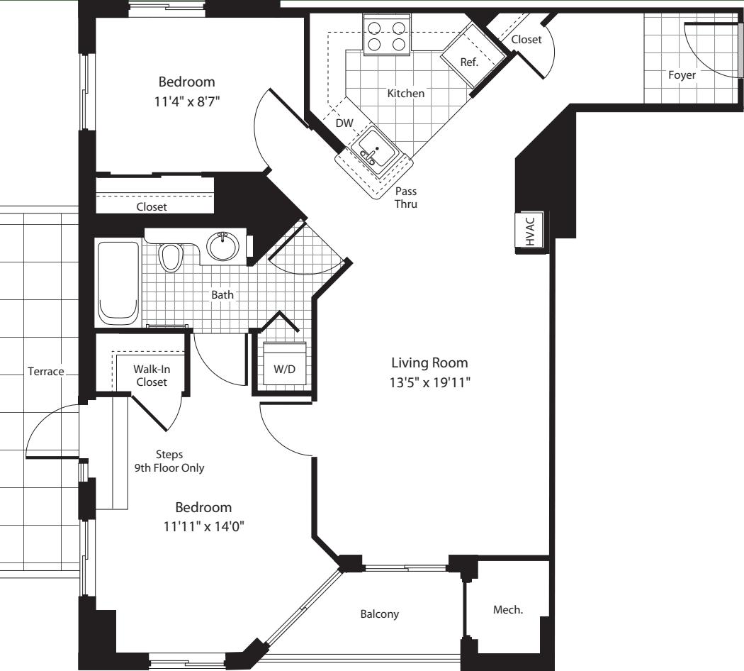 2 Bedroom AA