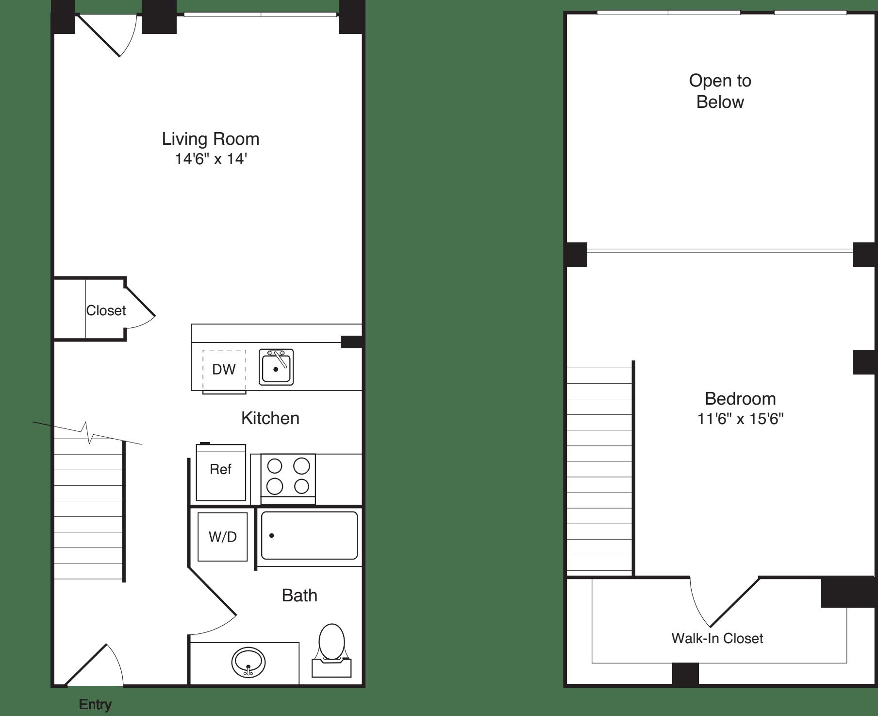 1 Bedroom Loft C