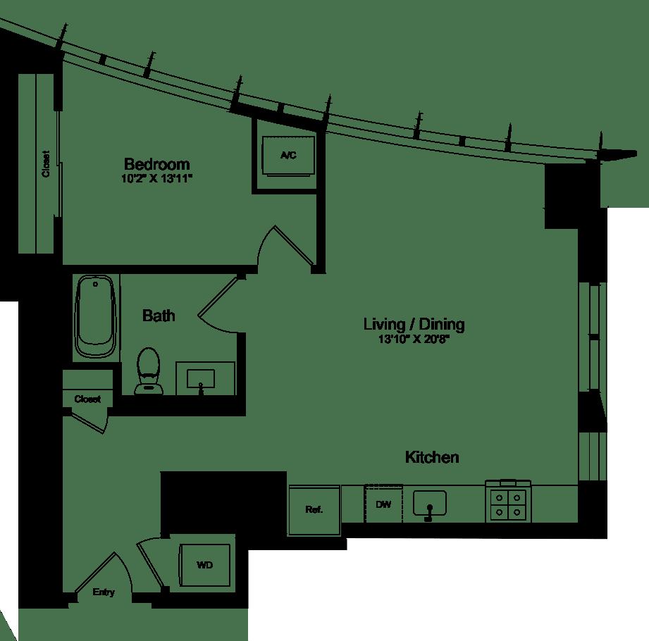 1 Bedroom O