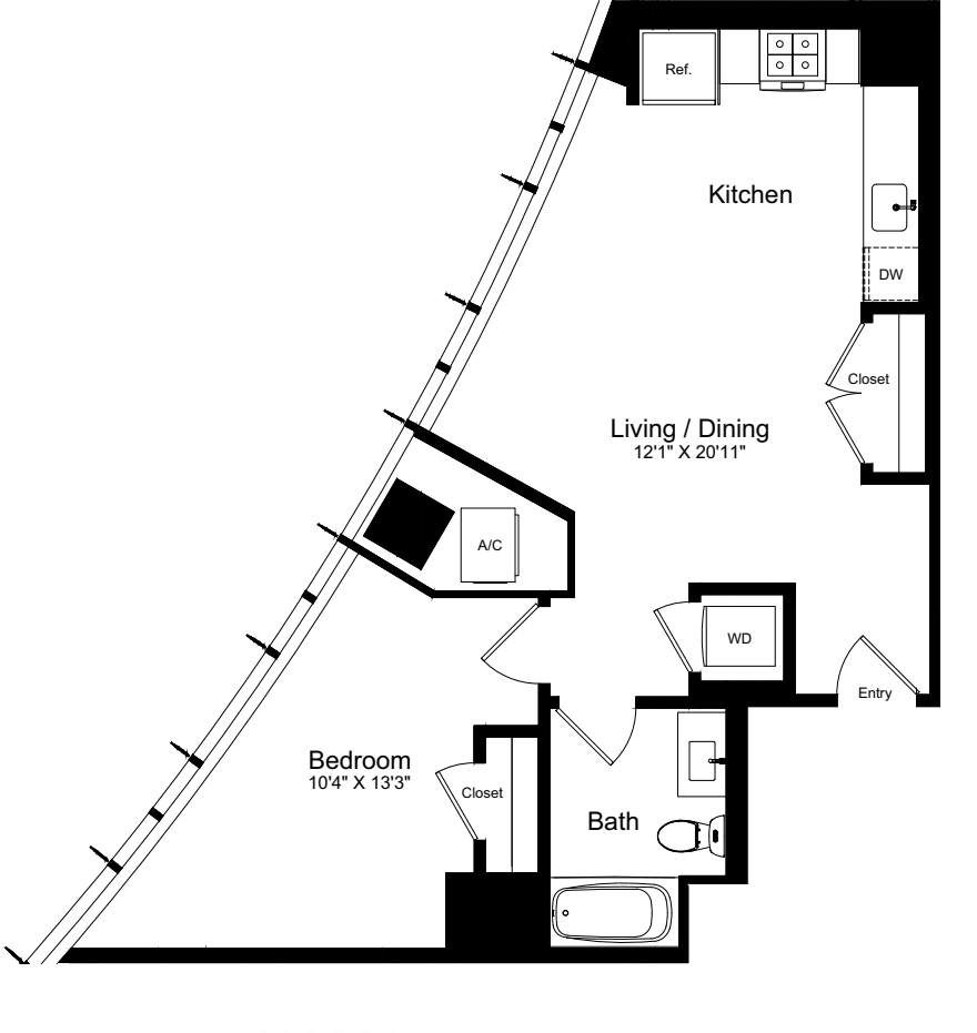 1 Bedroom Q