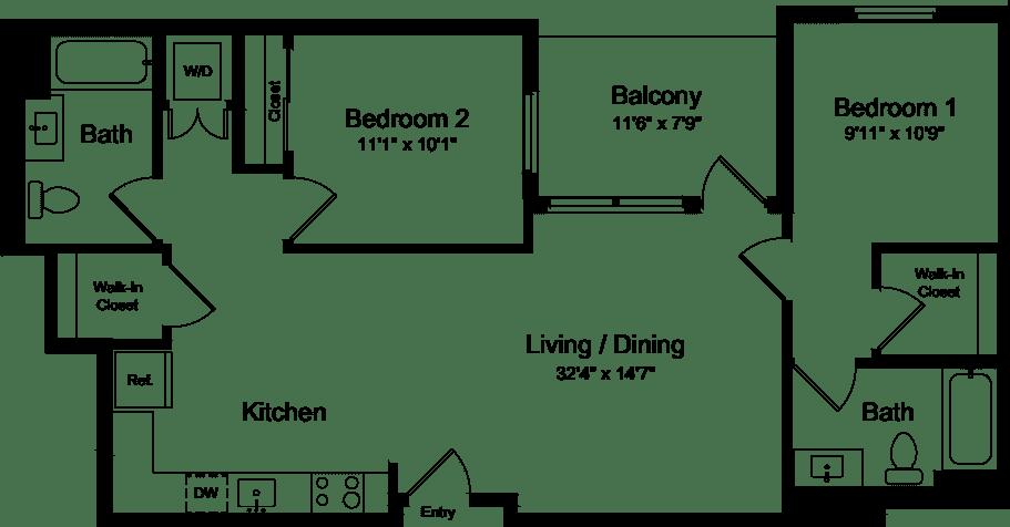 2 Bedroom CB
