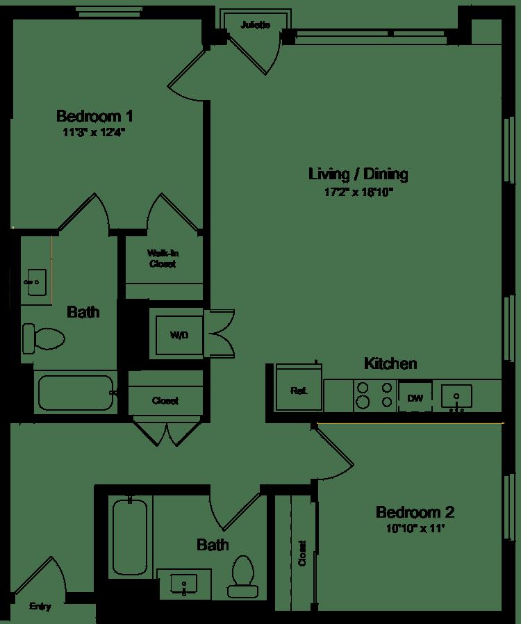 2 Bedroom JJ