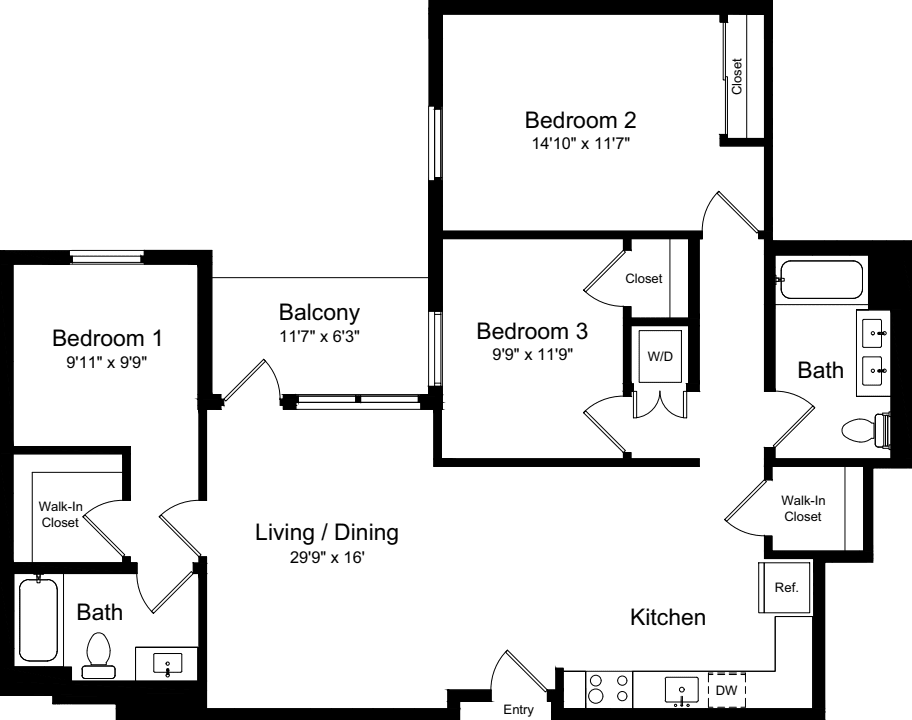 3 Bedroom AB