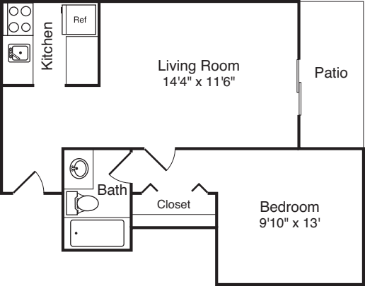 Plan 33 with Patio