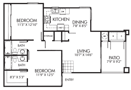 Two Bed Two Bath B
