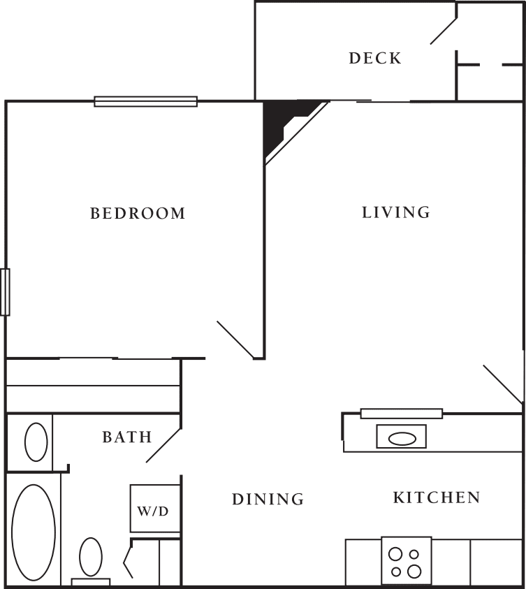 1 Bdrm 1 Bath