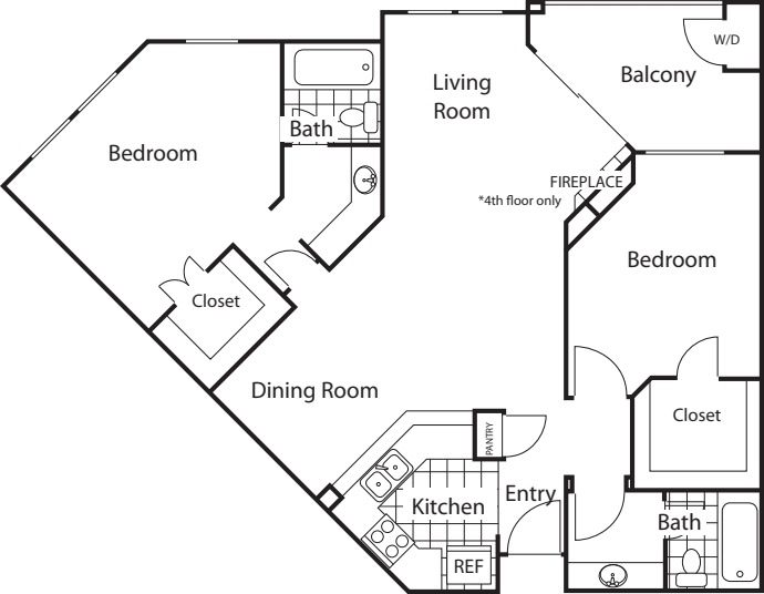 Amalfi Split Floorplan