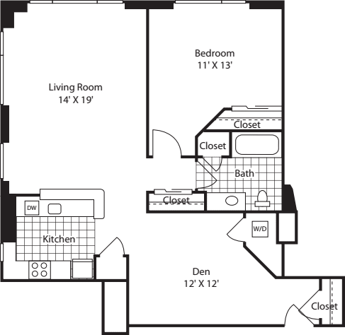 One Bedroom 1036