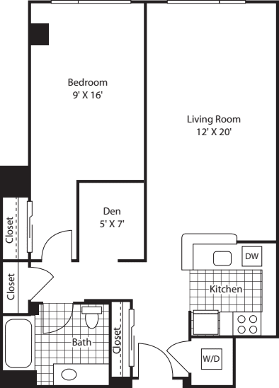 One Bedroom 819