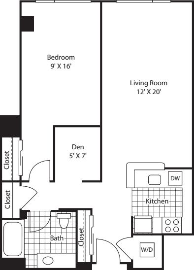 One Bedroom 819