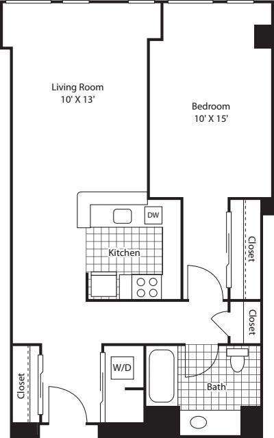 One Bedroom 802