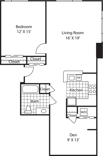 One Bedroom 978 A