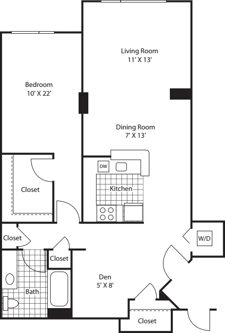 One Bedroom 997