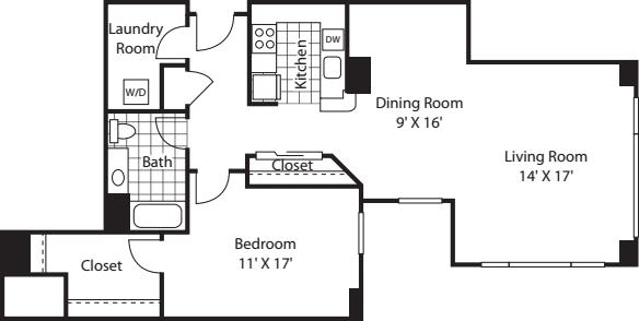 One Bedroom 1025