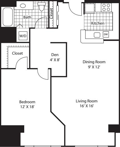 One Bedroom 1070