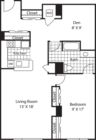One Bedroom 1097