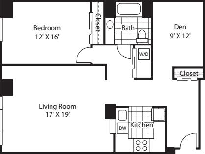 One Bedroom 1293