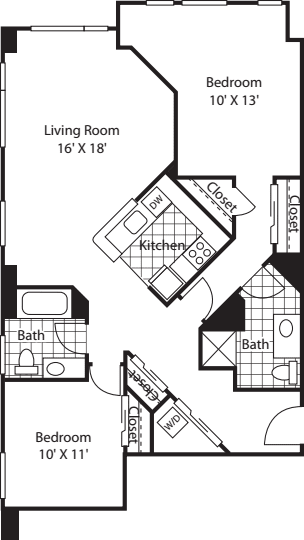 Two Bedroom 1135