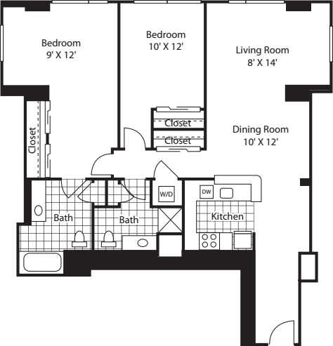 Two Bedroom 1152