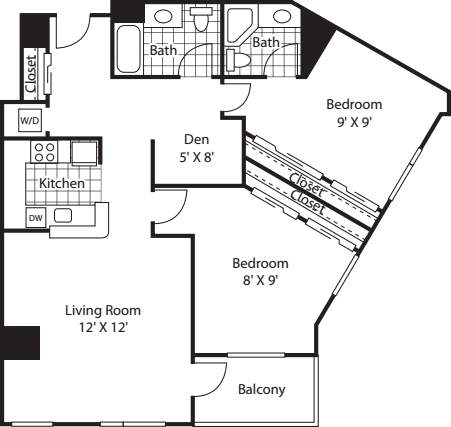 Two Bedroom 1187