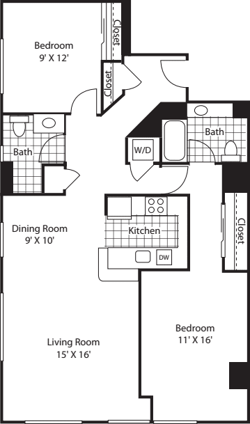 Two Bedroom 1204