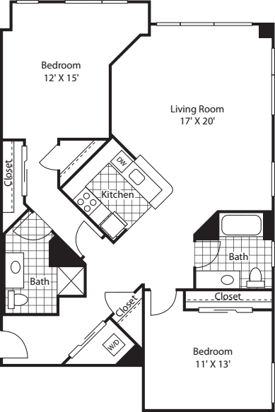 Two Bedroom 1311 A
