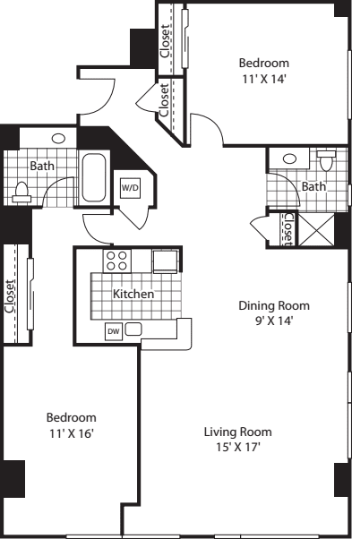 Two Bedroom 1396