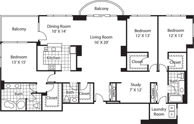Three Bedroom 2405