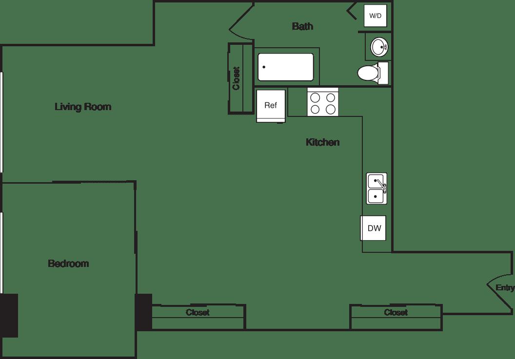 One Bedroom 650