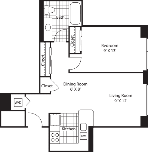 One Bedroom 729