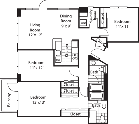 Three Bedroom 1423