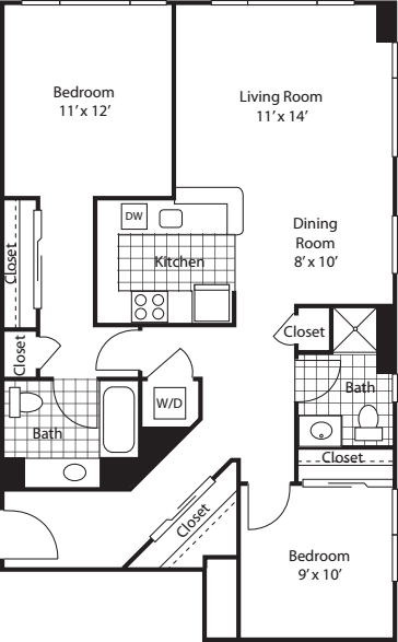Two Bedroom 1096