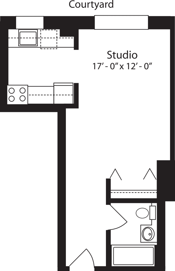 Plan D, floors 4-15