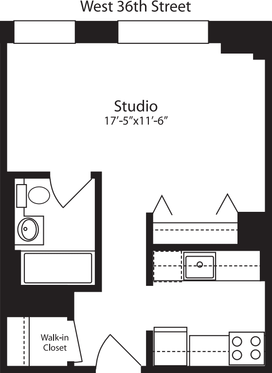 Plan H, floors 3-15