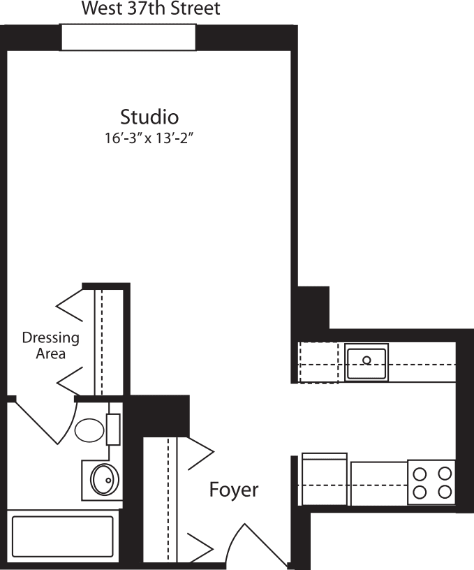 Plan V, floors 11-15