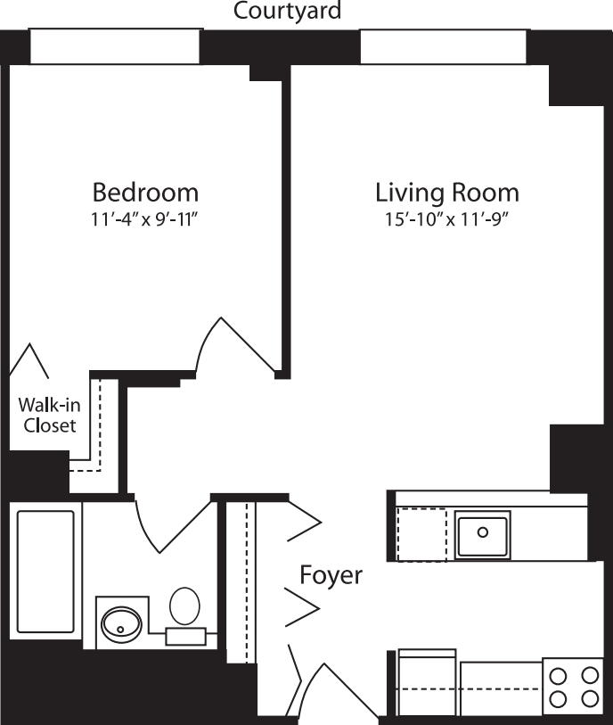 Plan W, floors 11-15