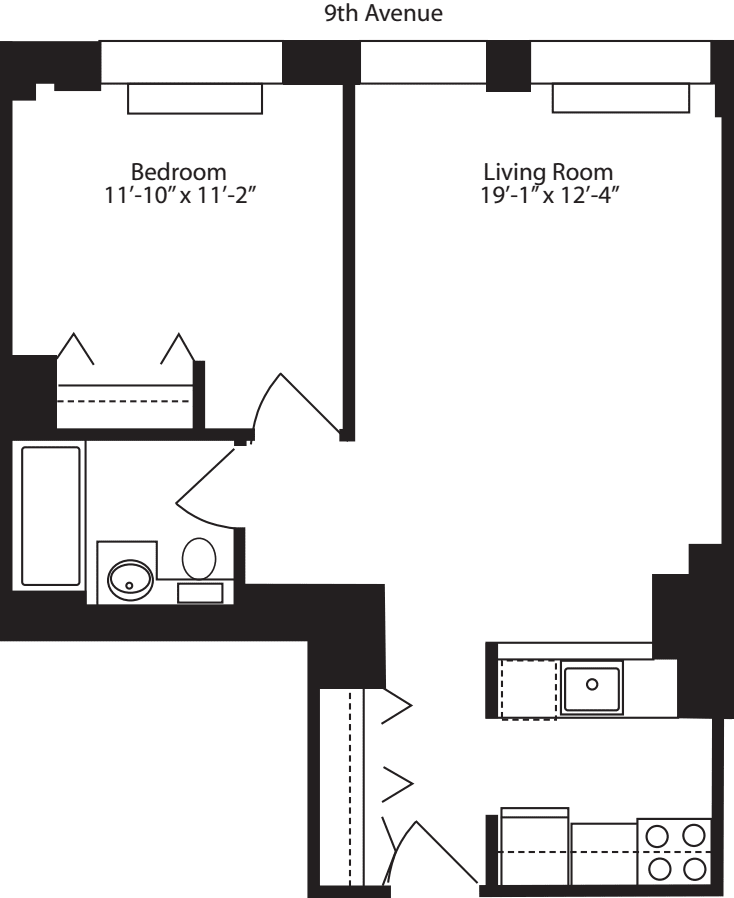 Plan N, floors 11-12