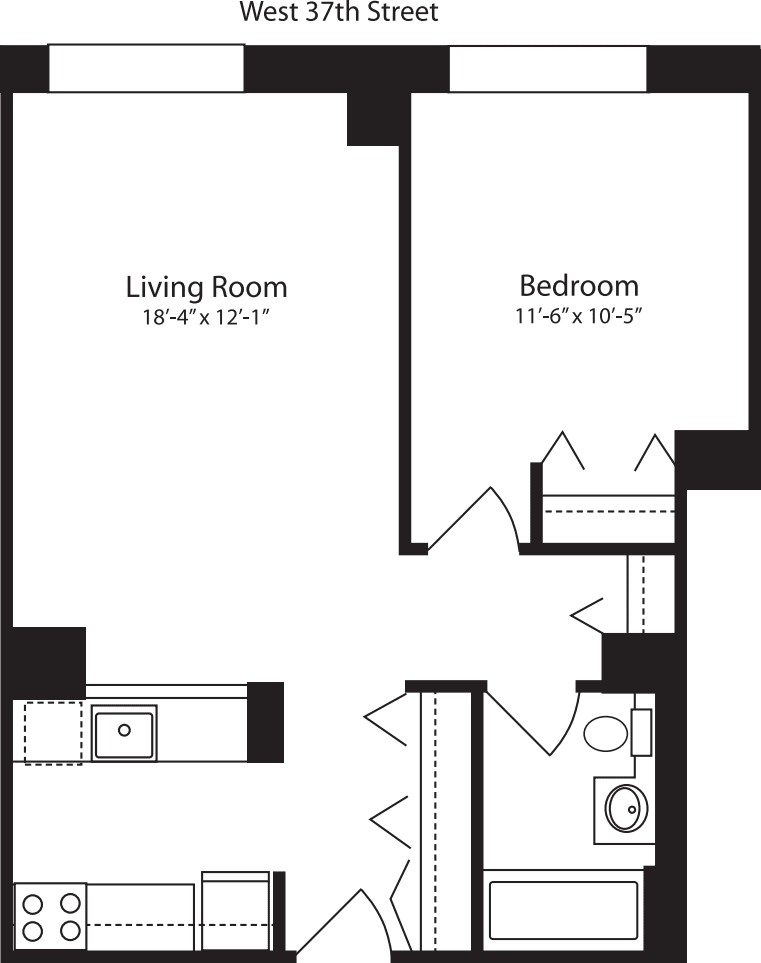 Plan T, floors 3-10