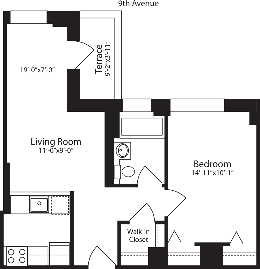 Plan M, floors 12